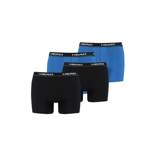 HEAD 4er Pack Boxer Short blau + schwarz
