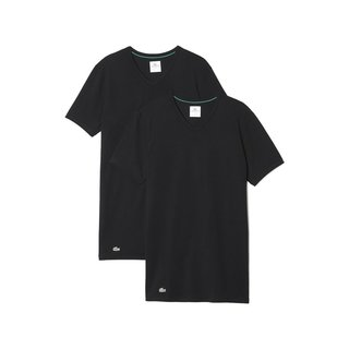 LACOSTE 2er Pack V-Neck T-Shirt Colours schwarz