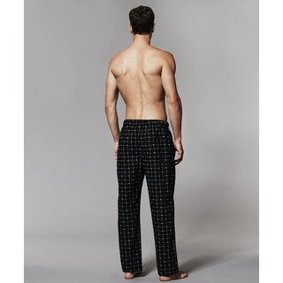 LACOSTE Lounge Pant Schlafhose lang schwarz