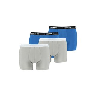 HEAD 4er Pack Boxer Short blau + grey